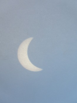 When you remove the sun filter from the telescope, you can see this on a piece of paper!