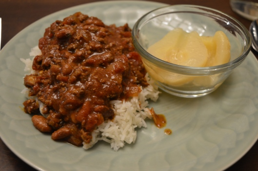 texas chili rice pears