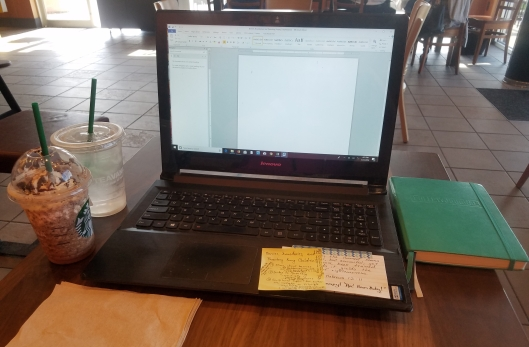 starbucks writing blank page blog