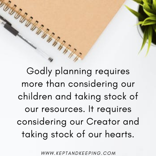 plans godliness home education