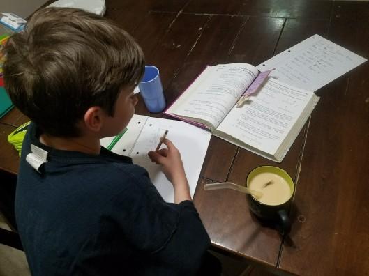 school boy homeschool hard growth grind