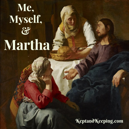 Martha Jesus Mary heart motherhood