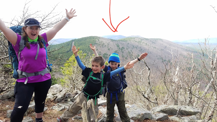 mountain view family backpacking hike outdoor habit Charlotte Mason Arkansas
