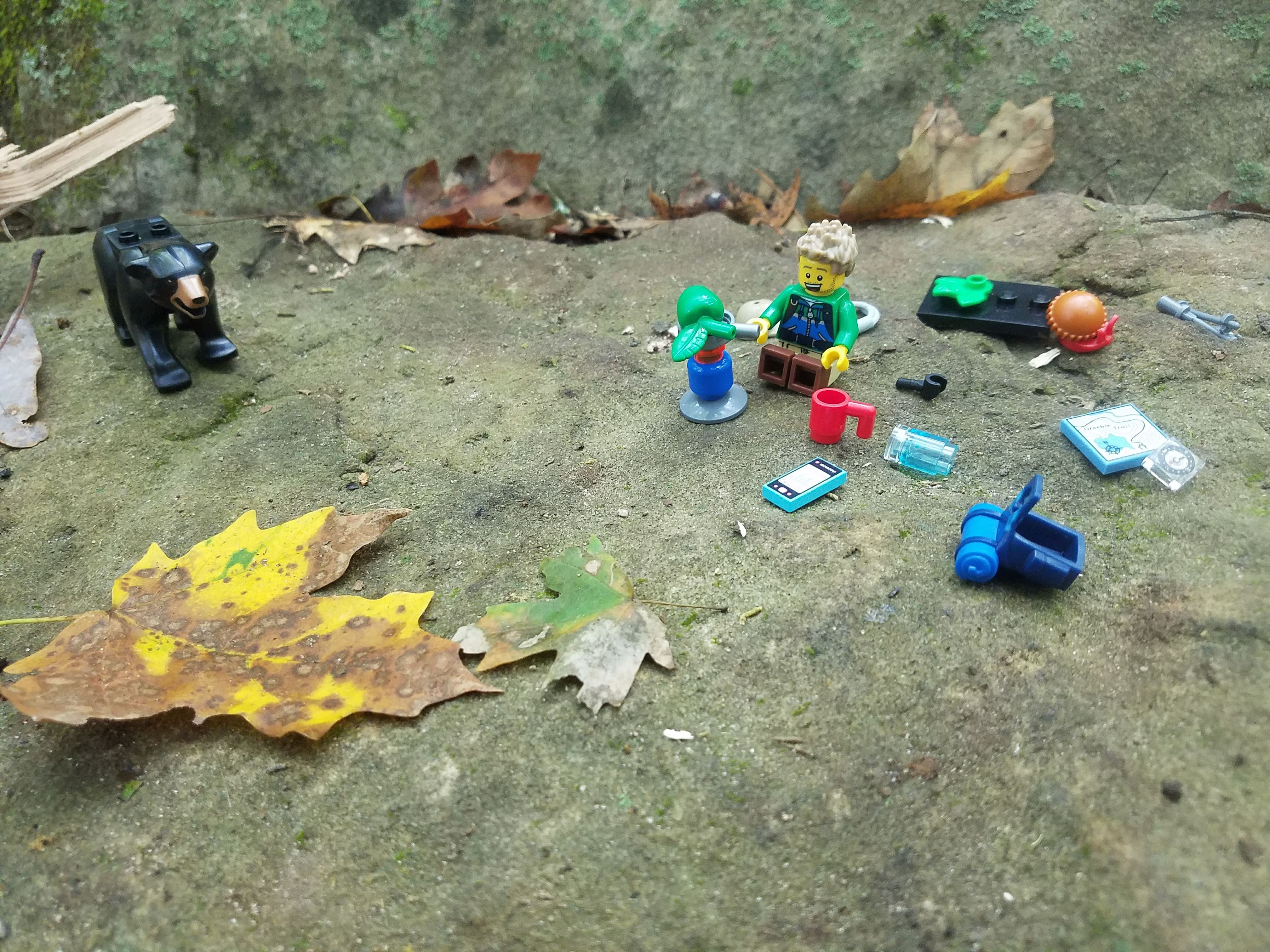 lego backpacking kids family outdoors