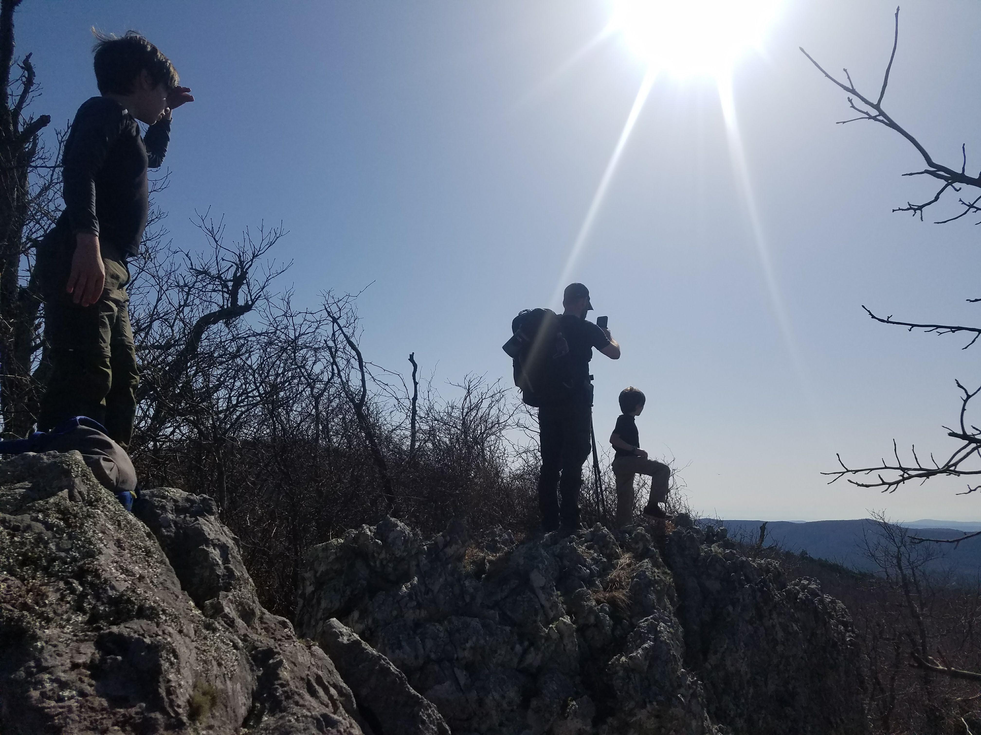 hiking view mountain outdoors family adventure